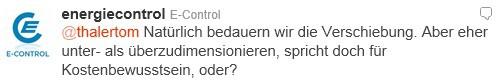 E-Control auf Twitter